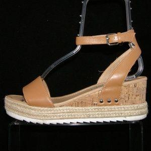 Steve Madden Shoes - Steve Madden 'Jadie' brown leather jute wedges 8M
